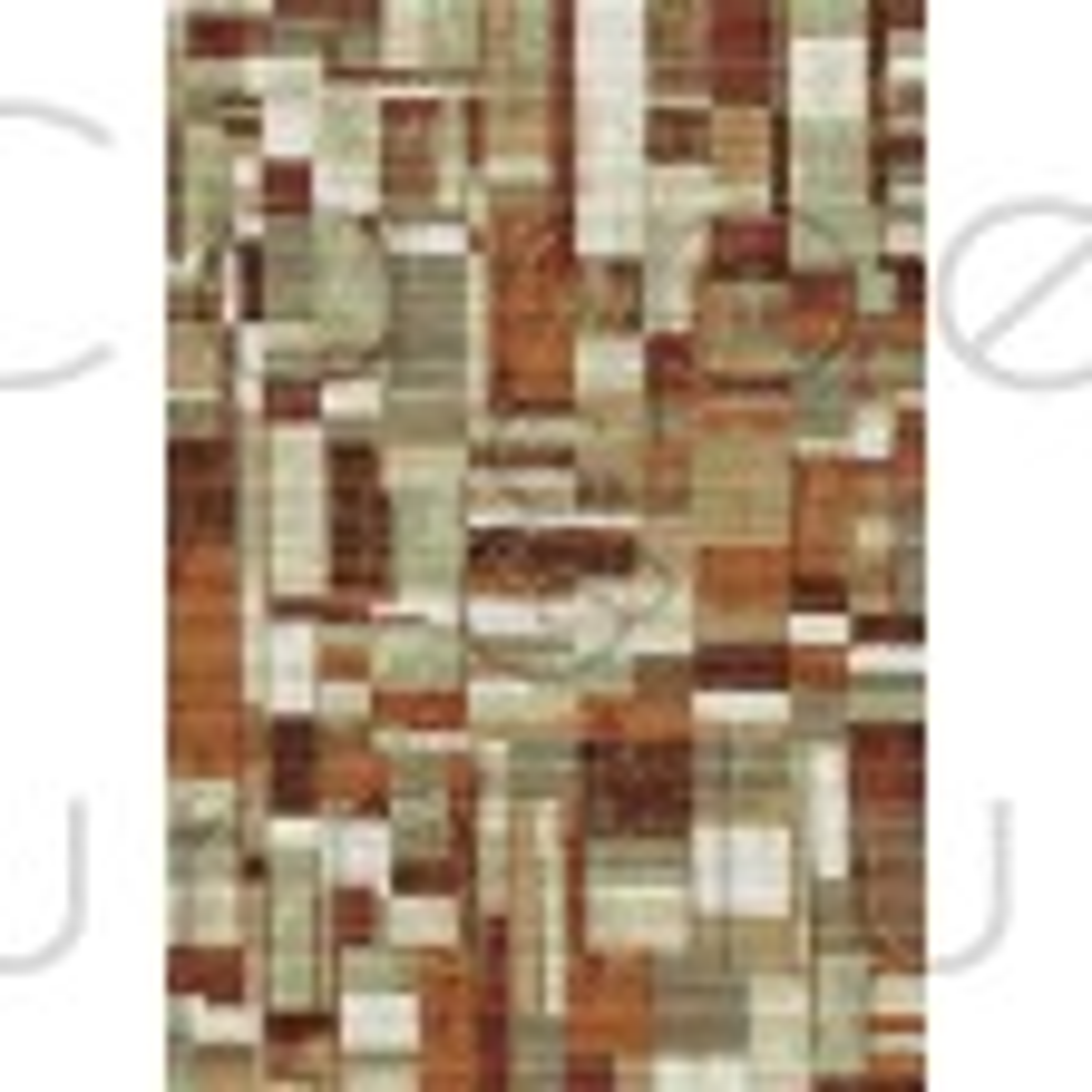 Galleria Rug - Squares 63244 6474 - Size Runner 67 x 330 cm