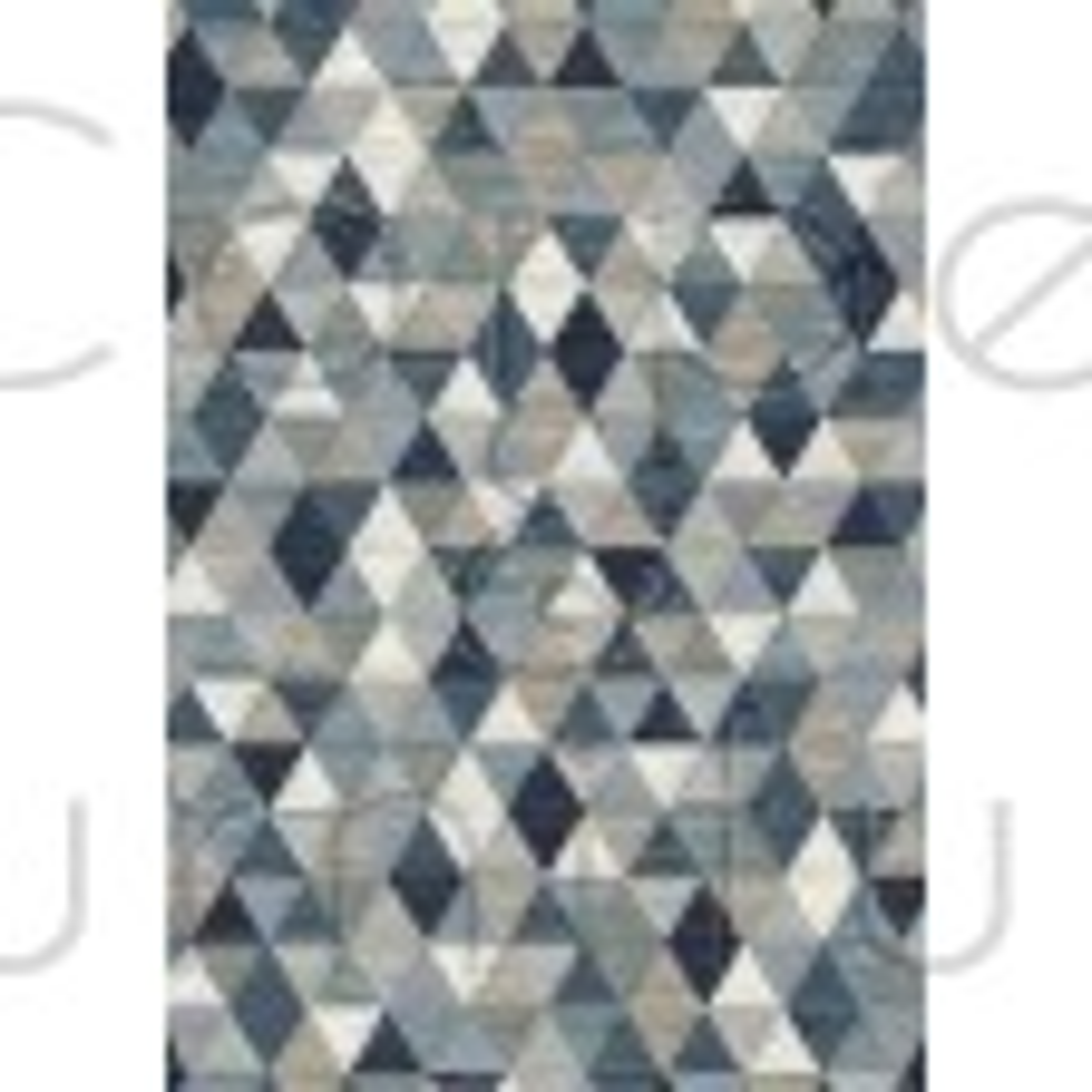 "Galleria Rug - Triangles 63263 5161 - Size 120 x 170 cm (4' x 5'7"")"