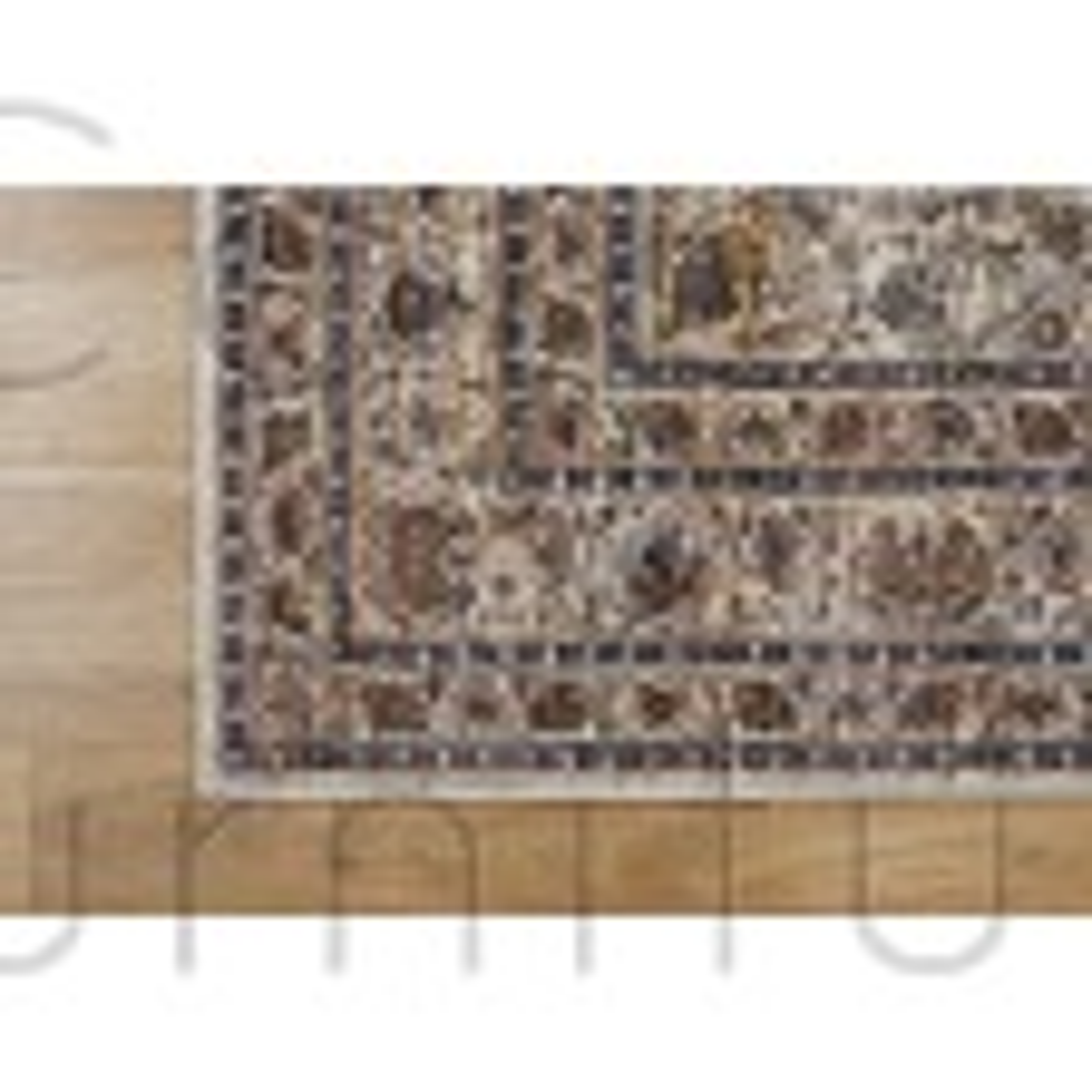 "Alhambra Traditional Rug - 6345c ivory/beige - Size 200 x 290 cm (6'7"" x 9'6"")"