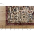 """Alhambra Traditional Rug - 6549a red/red - Size 80 x 150 cm (2'8"""" x 5')"""