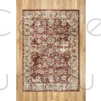 """Alhambra Traditional Rug - 6549a red/red - Size 160 x 230 cm (5'3"""" x 7'7"""")"""