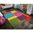 Abstract Collage Rug - Multi - Size Runner 60 x 230 cm