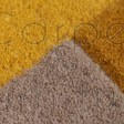 Abstract Collage Rug - Ochre Yellow - Size 120 x 180 cm (4' x 6')
