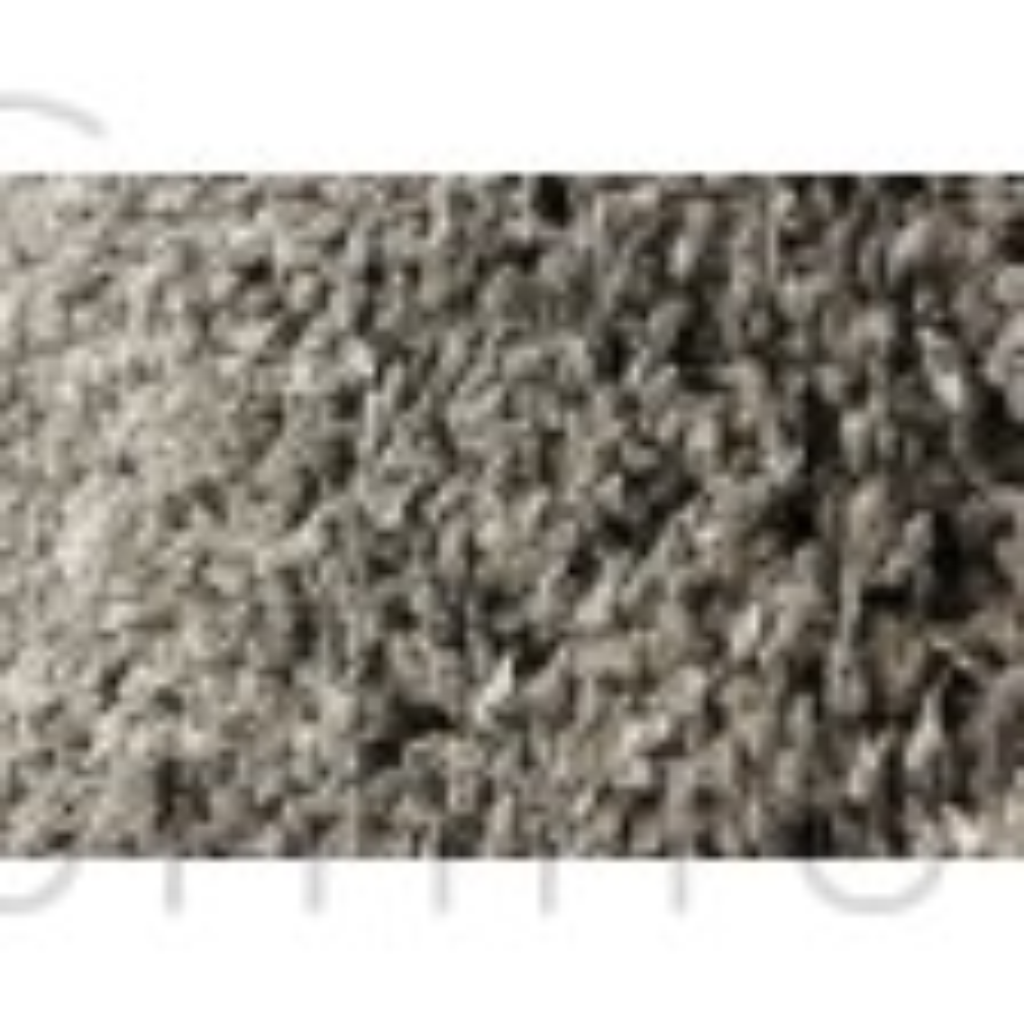 "Athena Shaggy Rug - Charcoal Grey - Size 140 x 200 cm (4'7"" x 6'7"")"