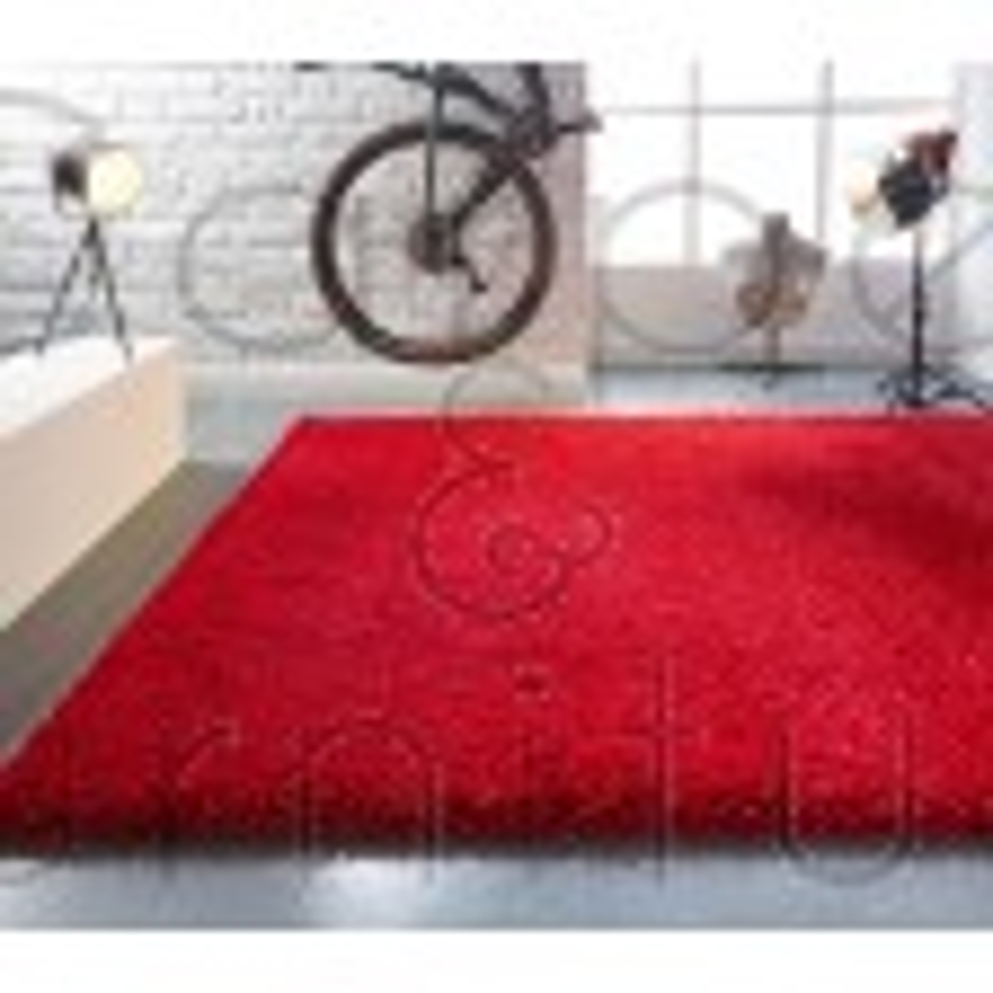 "Athena Shaggy Rug - Red - Size 80 x 150 cm (2'8"" x 5')"