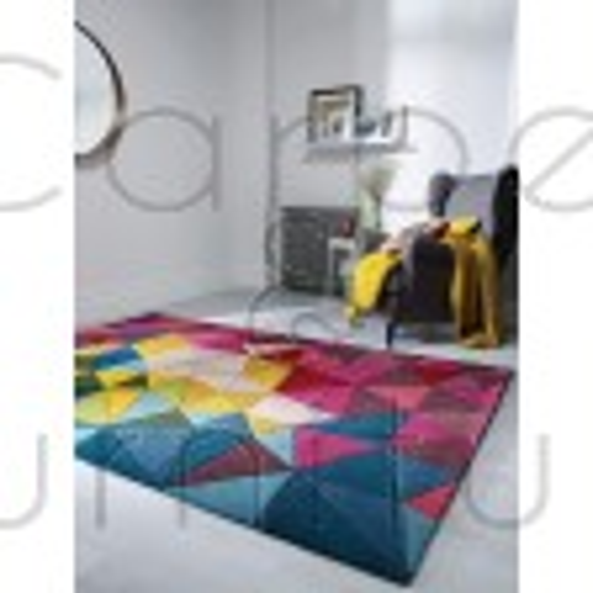 """Illusion Falmouth Multi Rug - Size 120 x 170 cm (4' x 5'7"""")"""
