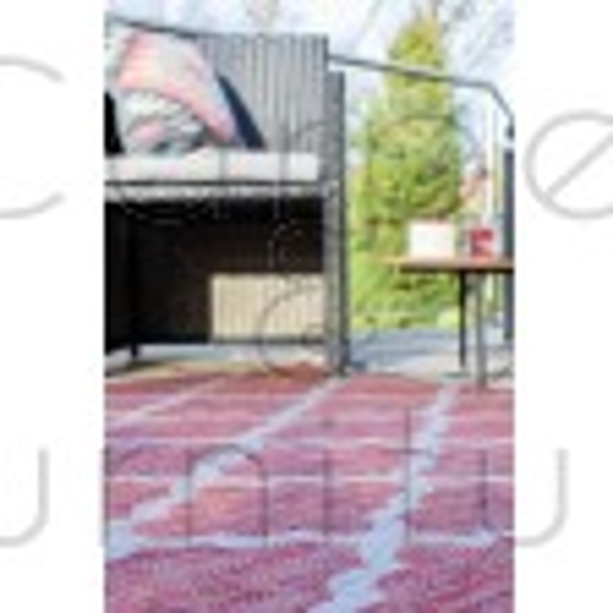 "Florence Alfresco Padua Rug - Red Beige - Size 120 x 170 cm (4' x 5'7"")"