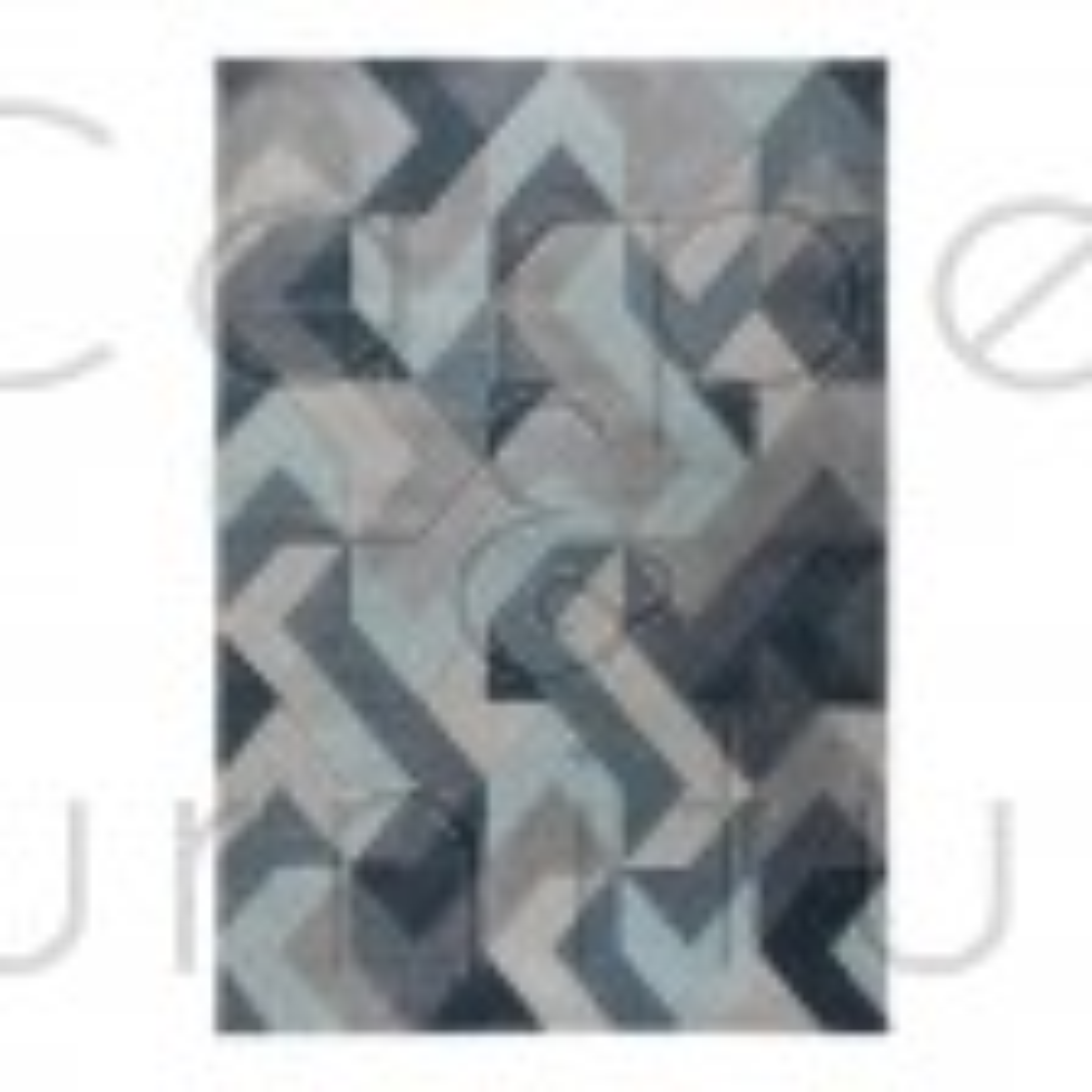 "Aurora Rug - Denim Blue - Size 120 x 170 cm (4' x 5'7"")"