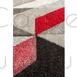 "Aurora Rug - Grey Red - Size 160 x 230 cm (5'3"" x 7'7"")"
