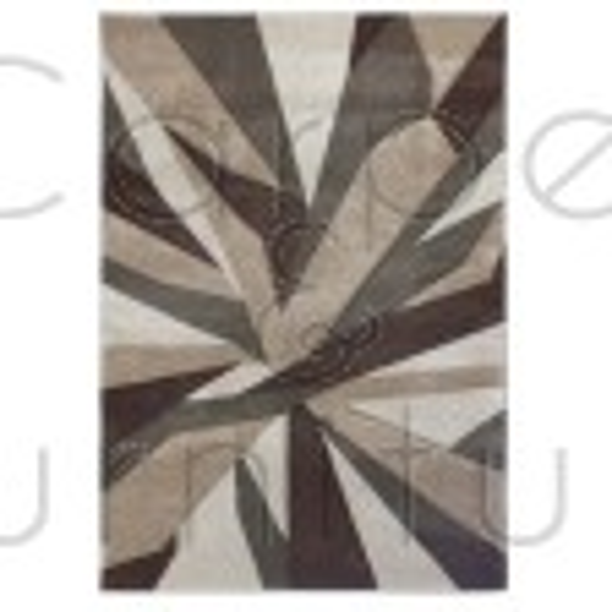 "Shatter Rug - Beige Brown - Size 160 x 230 cm (5'3"" x 7'7"")"