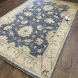 Afghan Ziegler Hand-knotted Wool Rug - Blue/Cream 119 x 184 cm