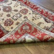 Afghan Ziegler Hand-knotted Wool Rug - Cream/Brick Red 127 x 193 cm