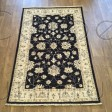 Afghan Ziegler Hand-knotted Traditional Wool Rug - Black 116 x 180 cm