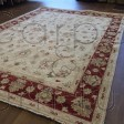 Afghan Ziegler Hand-knotted Traditional Wool Rug - Cream Red 150 x 200 cm