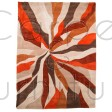 "Infinite Splinter Orange Rug - Size 120 x 170 cm (4' x 5'7"")"