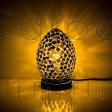 BLACK TILE MINI MOSAIC EGG LAMP