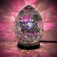 PURPLE & BLACK MINI MOSAIC EGG LAMP