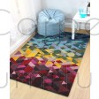 "Illusion Kingston Multi Rug - Size 120 x 170 cm (4' x 5'7"")"