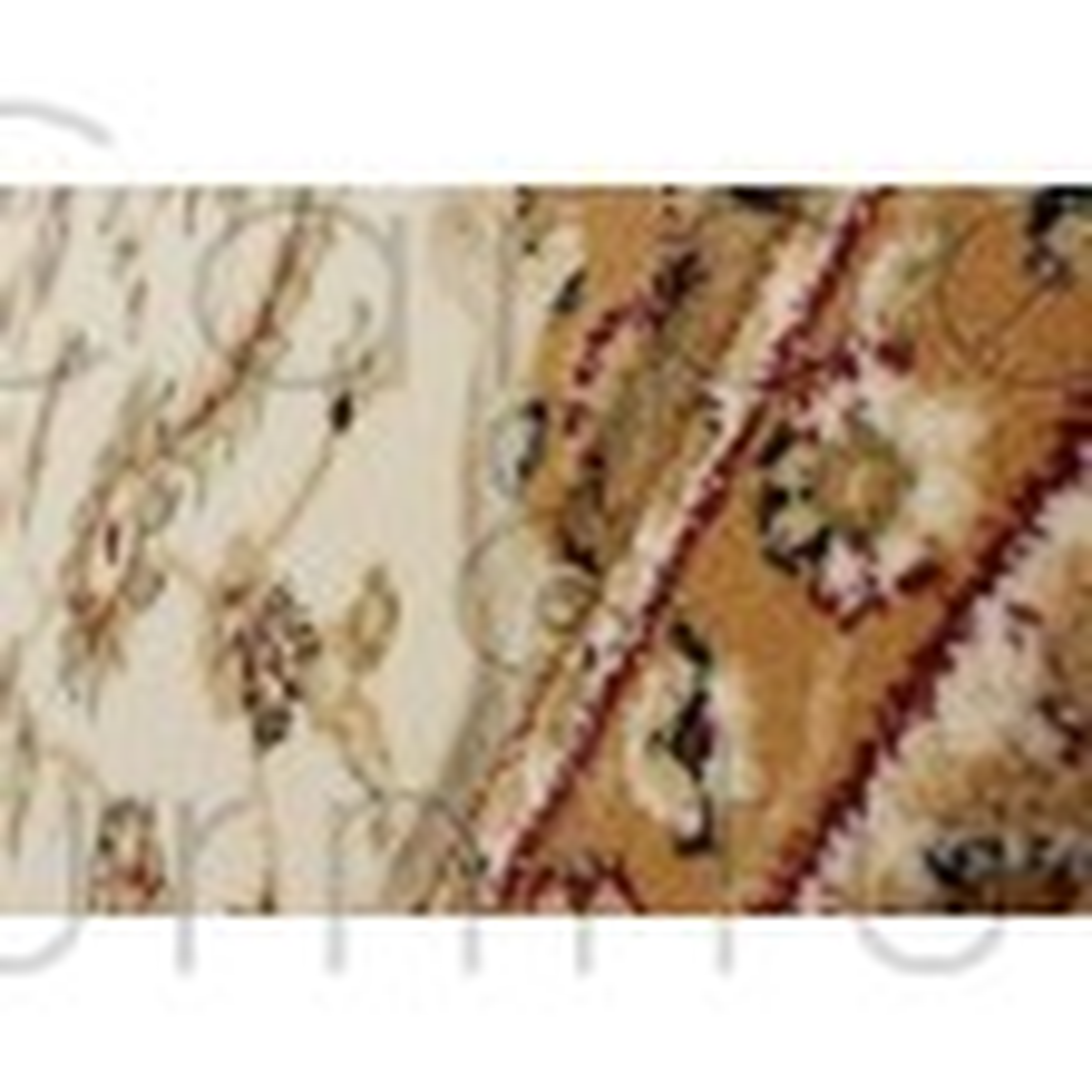 "Ottoman Temple Rug - Cream - Size 160 x 230 cm (5'3"" x 7'7"")"