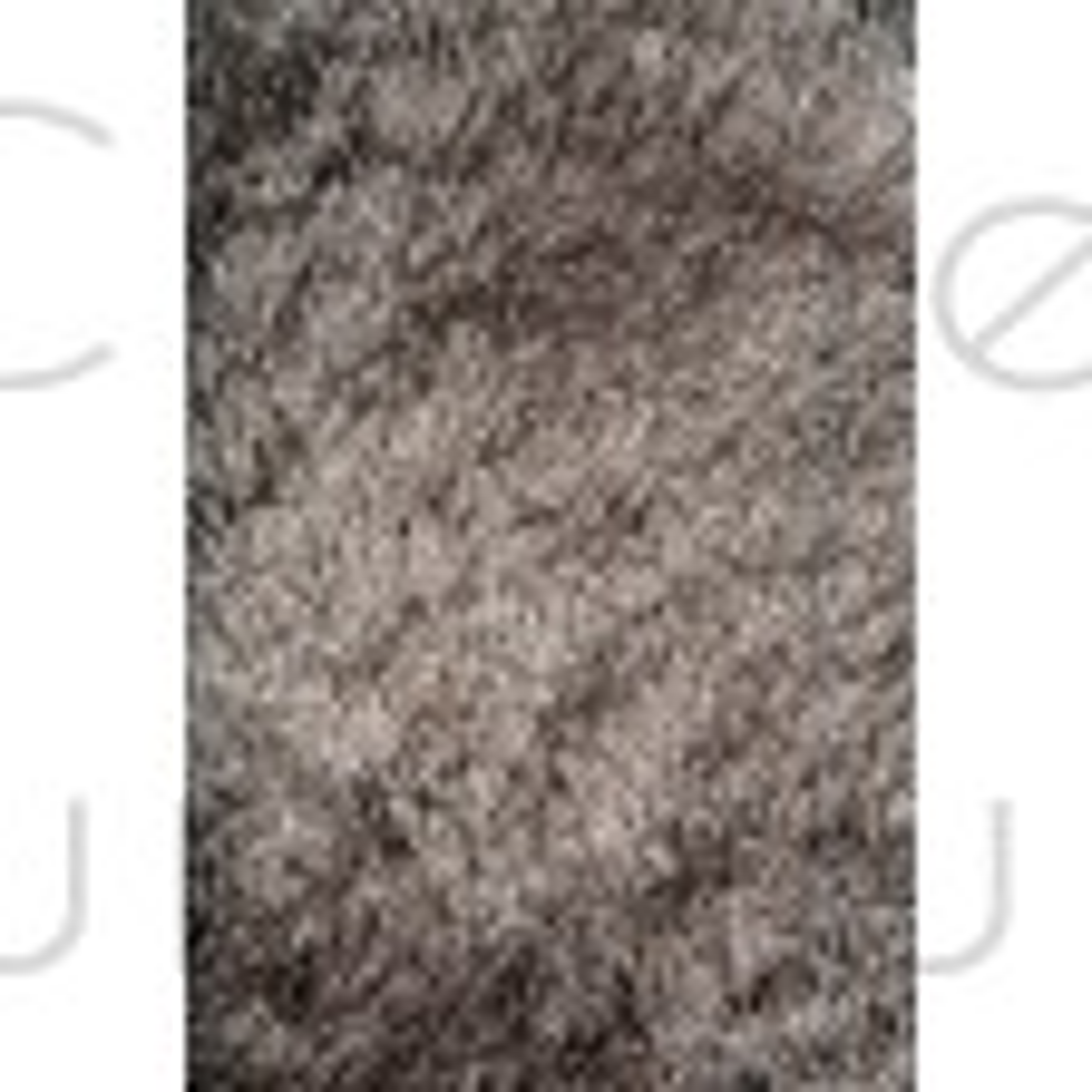"Splendour Shadow Shaggy Rug - Silver - Size 60 x 110 cm (2' x 3'7"")"