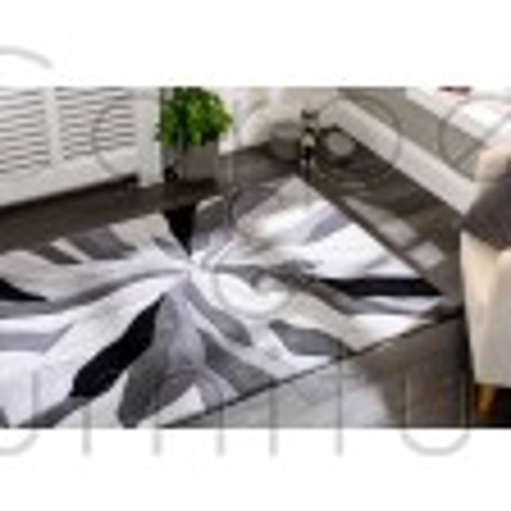 "Infinite Splinter Grey Rug - Size 160 x 220 cm (5'3"" x 7'3"")"