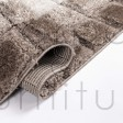 "Cube Shaggy Rug - Natural - Size 160 x 230 cm (5'3"" x 7'7"")"