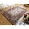 "Cube Shaggy Rug - Natural - Size 120 x 170 cm (4' x 5'7"")"