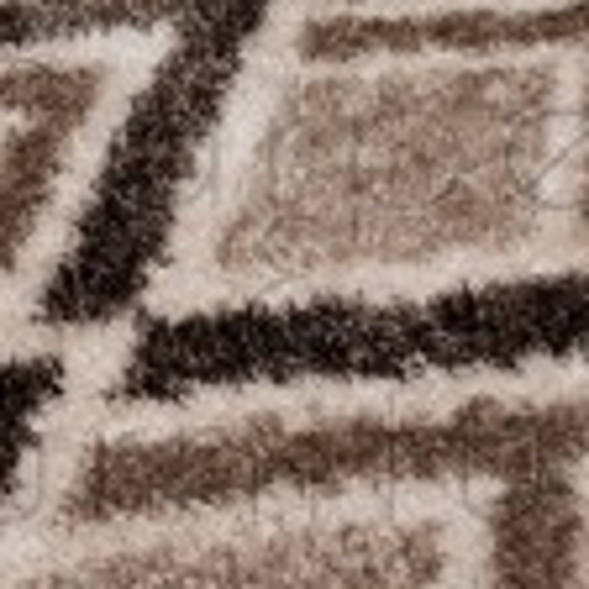 "Velvet Bijoux Rug - Beige Brown - Size 80 x 150 cm (2'8"" x 5')"