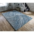 "Verge Furrow Duck Egg Rug - Size 160 x 230 cm (5'3"" x 7'7"")"