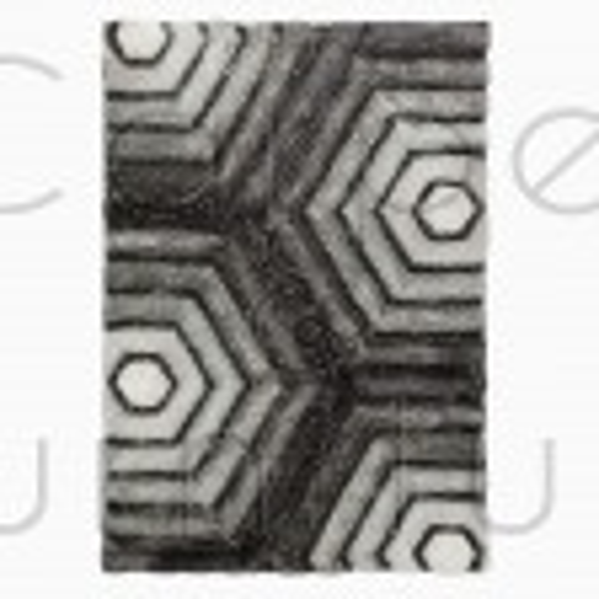 "Verge Hexagon Rug - Grey - Size 80 x 150 cm (2'8"" x 5')"