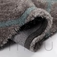 "Verge Honeycomb Grey Duck Egg Rug - Size 120 x 170 cm (4' x 5'7"")"