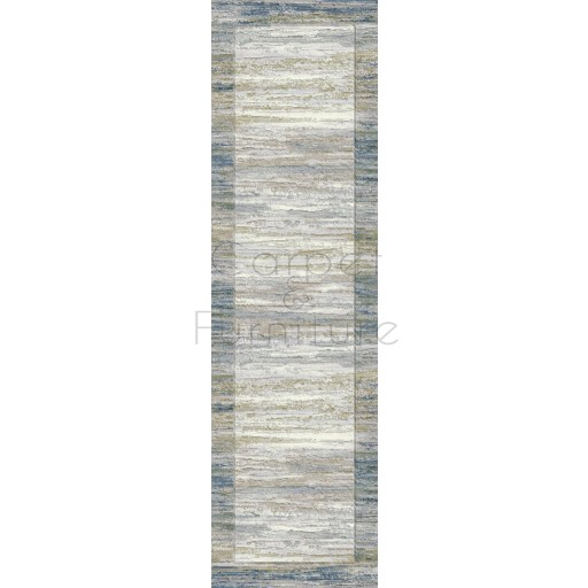 Galleria Rug - Border Blue 63138 6191 - Size Runner 67 x 330 cm