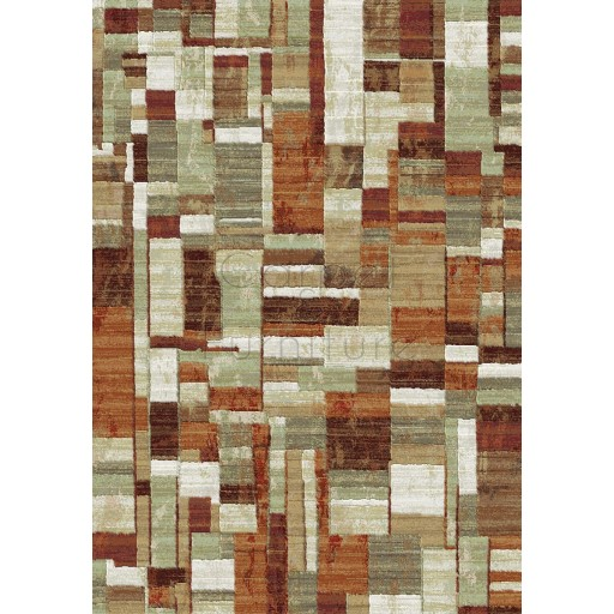 """Galleria Rug - Squares 63244 6474 - Size 80 x 150 cm (2'8"""" x 5')"""