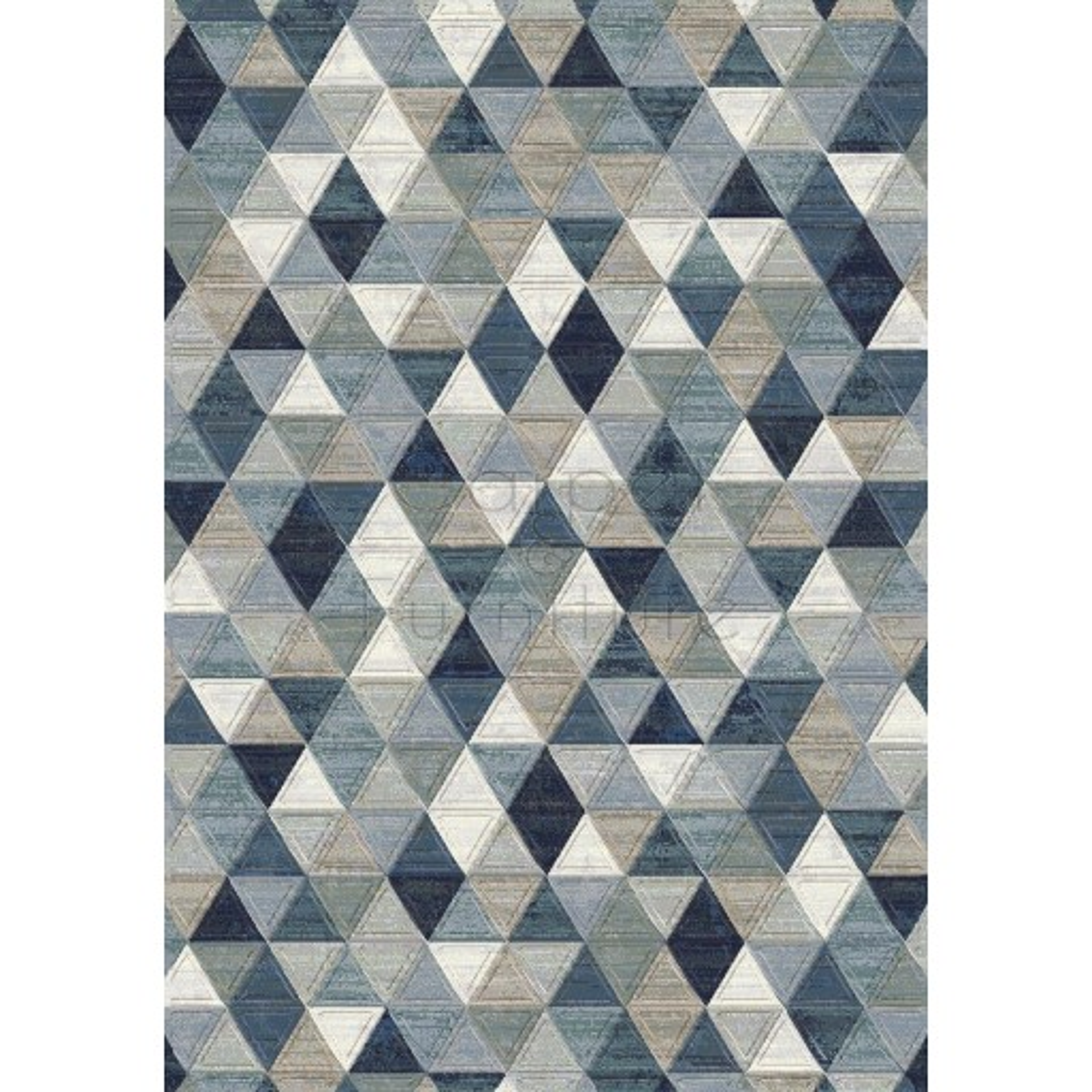 "Galleria Rug - Triangles 63263 5161 - Size 80 x 150 cm (2'8"" x 5')"