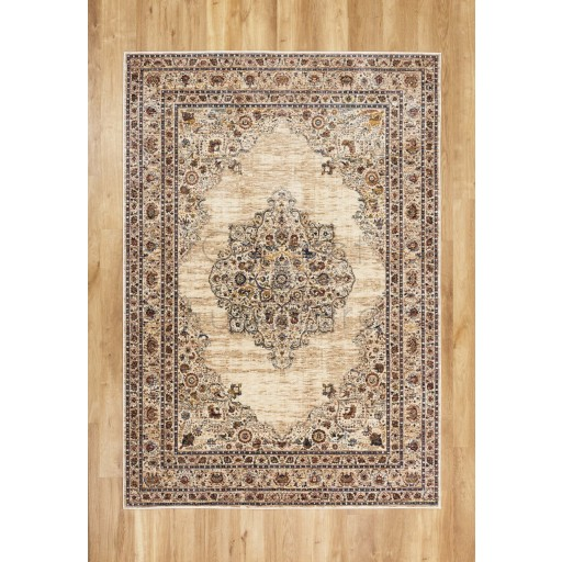 "Alhambra Traditional Rug - 6345c ivory/beige - Size 80 x 150 cm (2'8"" x 5')"