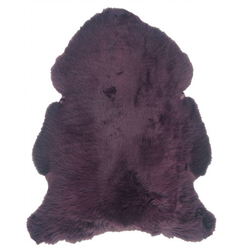 British Sheepskin Rug  - Aubergine-Single Skin
