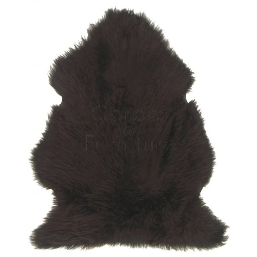 British Sheepskin Rug  - Dark Chocolate-Treble Skin