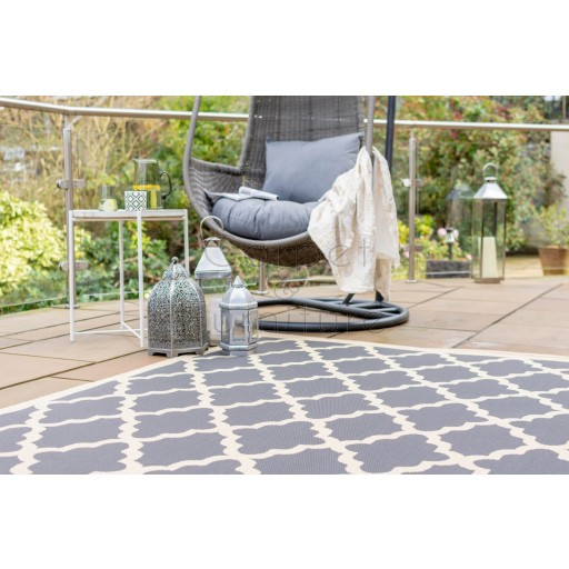 Florence Alfresco Padua Rug - Beige Anthracite - Size Runner 60 x 230 cm