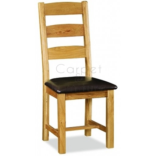 Winchester Slatted Dining Chair with PU seat