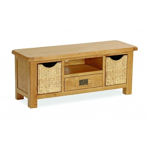 Winchester TV Unit with Baskets