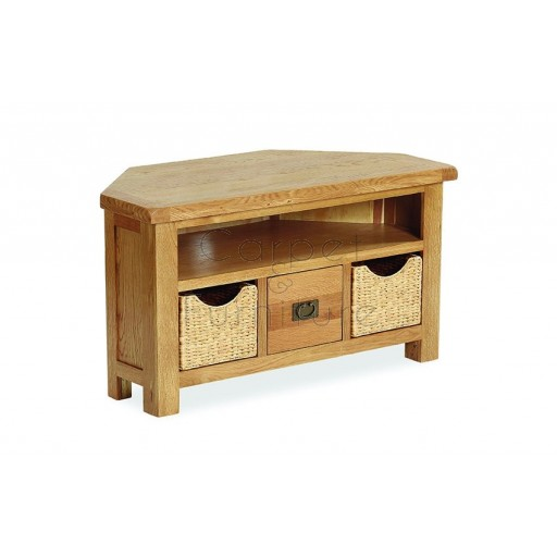 Winchester Corner TV Unit with Baskets