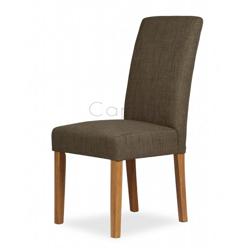 Upholstered Dining Chair - Coffee