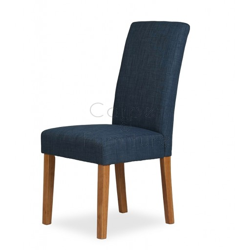 Upholstered Dining Chair - Navy Blue