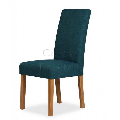 Upholstered Dining Chair - Teal