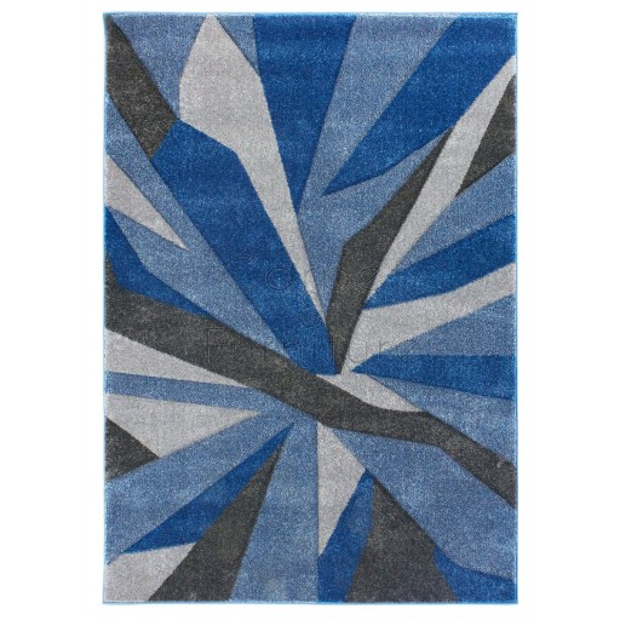 "Shatter Rug - Blue Grey - Size 120 x 170 cm (4' x 5'7"")"