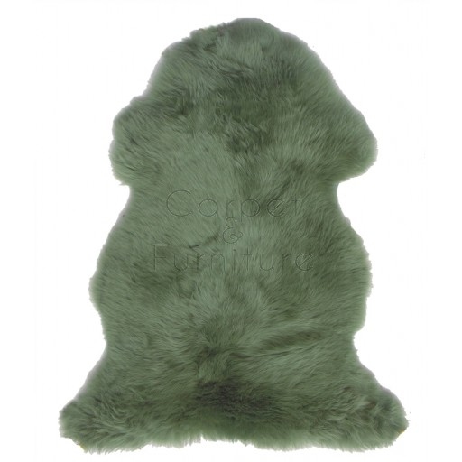 British Sheepskin Rug  - Jade Green-Octo Skin