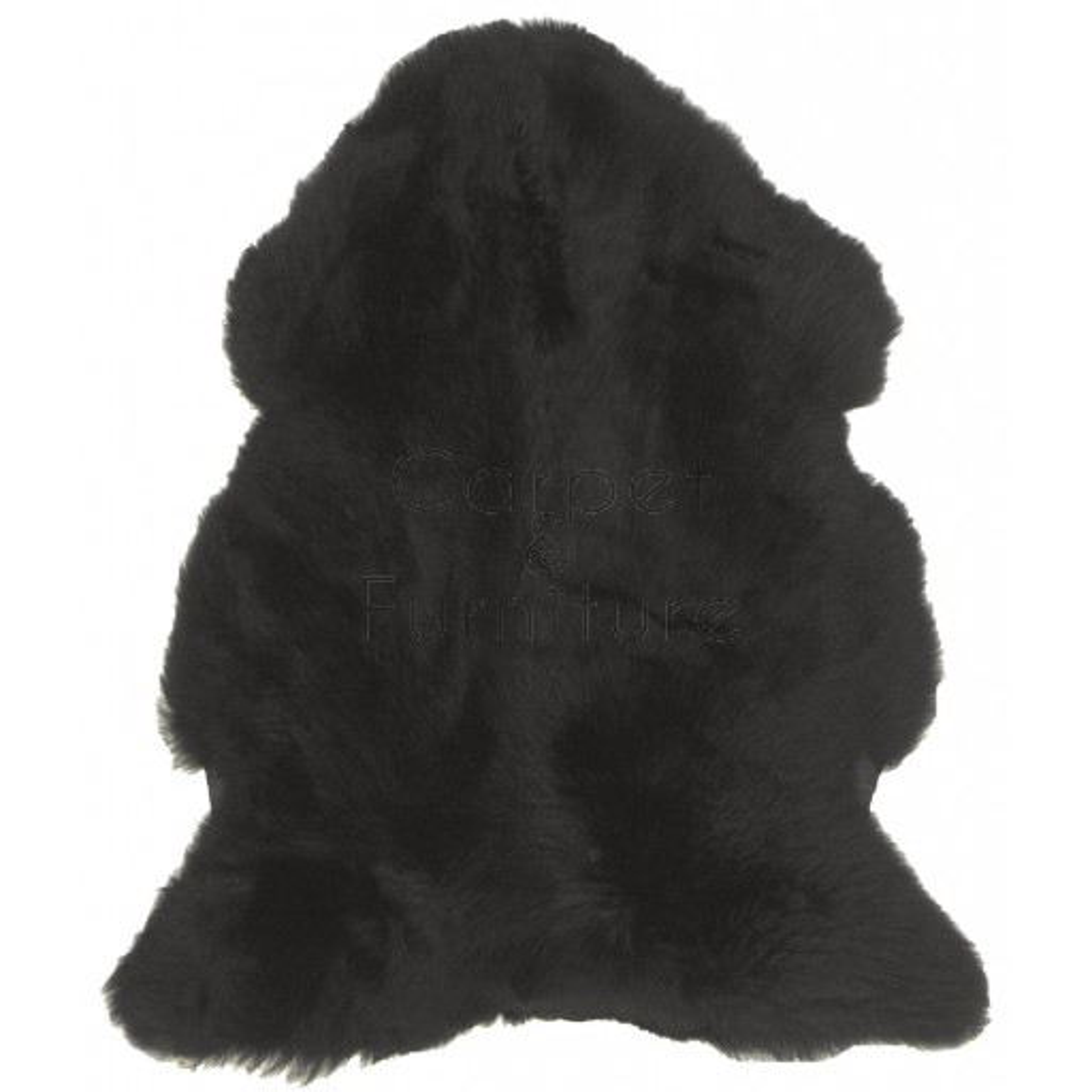 British Sheepskin Rug  - Black-Single Skin