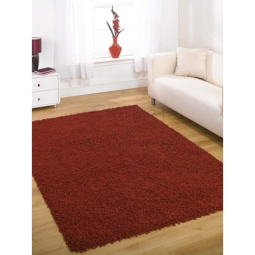 Nordic Cariboo Shaggy Rug - Red - Size