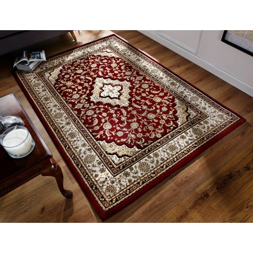 """Ottoman Temple Rug - Red - Size 120 x 170 cm (4' x 5'7"""")"""