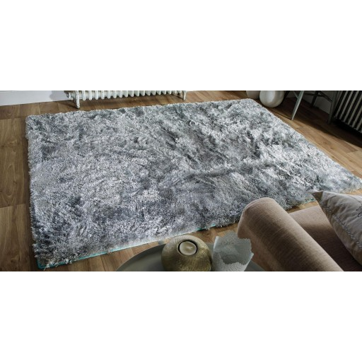 "Serenity Super-Soft Shaggy - Duck Egg - Size 120 x 170 cm (4' x 5'7"")"